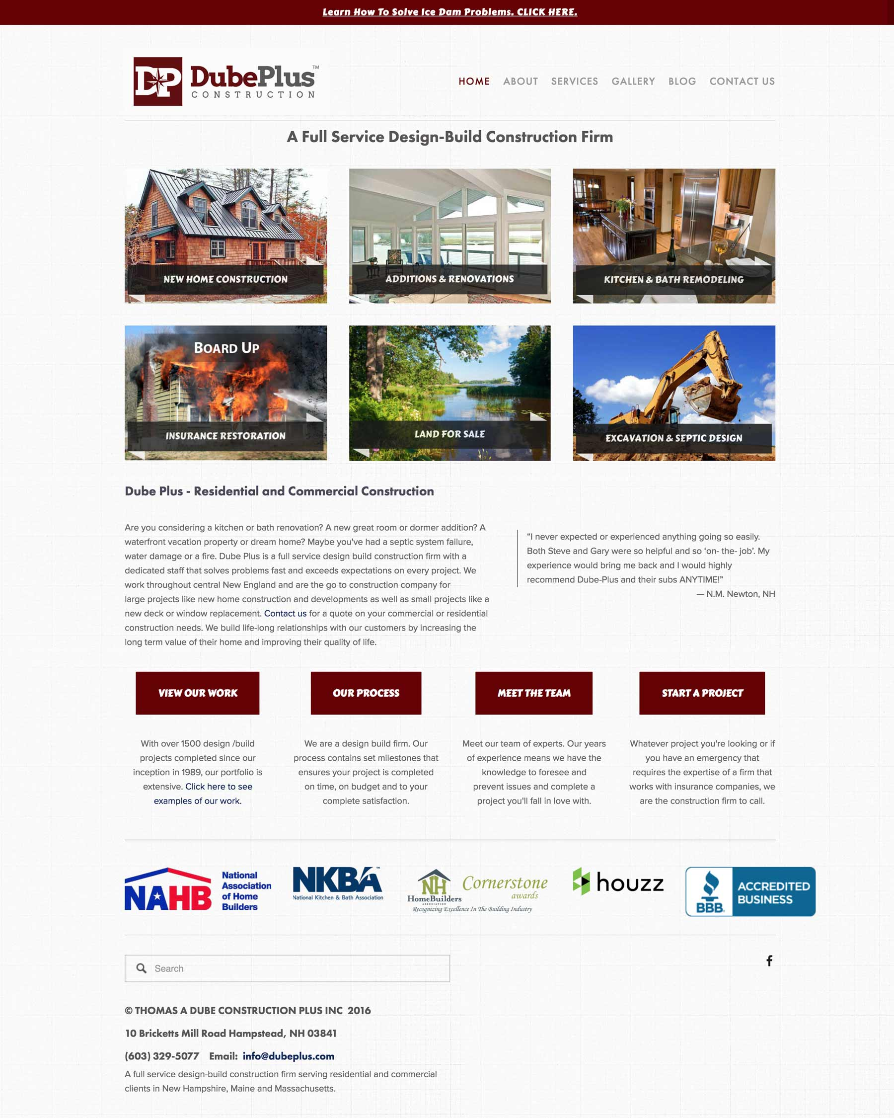 Dube Plus Construction - A Design-Build Contractor and Excavation Company