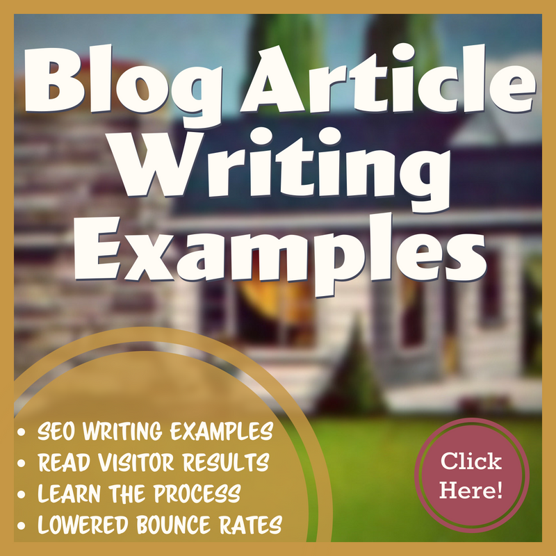 Outsourced Blog Article Writing Examples