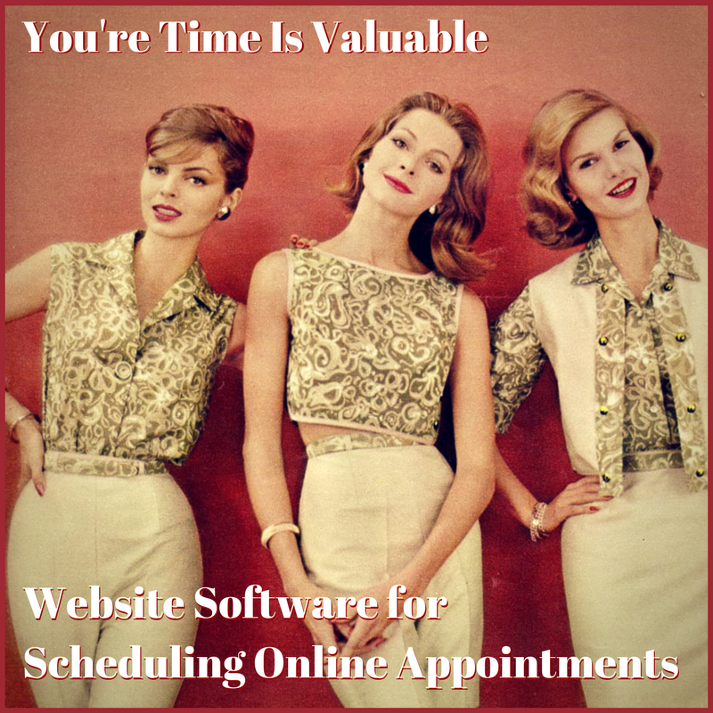 Website software for scheduling online appointments