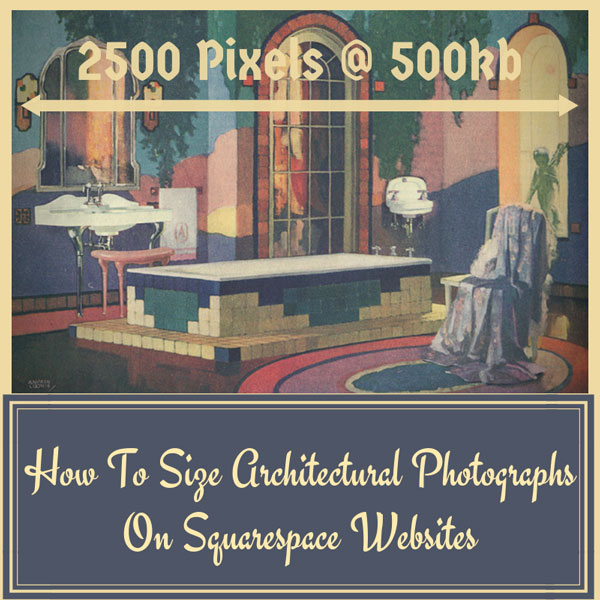How To Size Photographs On Squarespace Websites