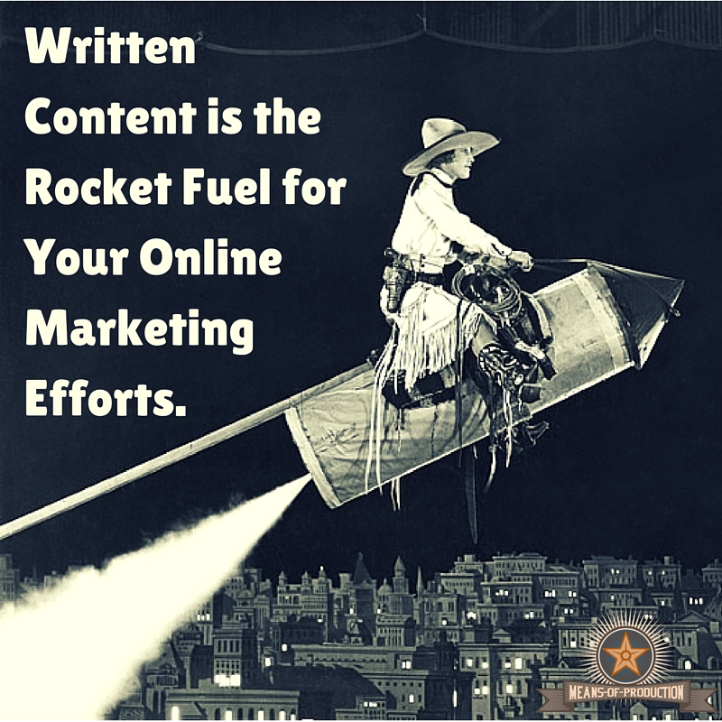 The Place To Start is Blogging. It Has The Highest ROI of All Marketing and Advertising Tactics.