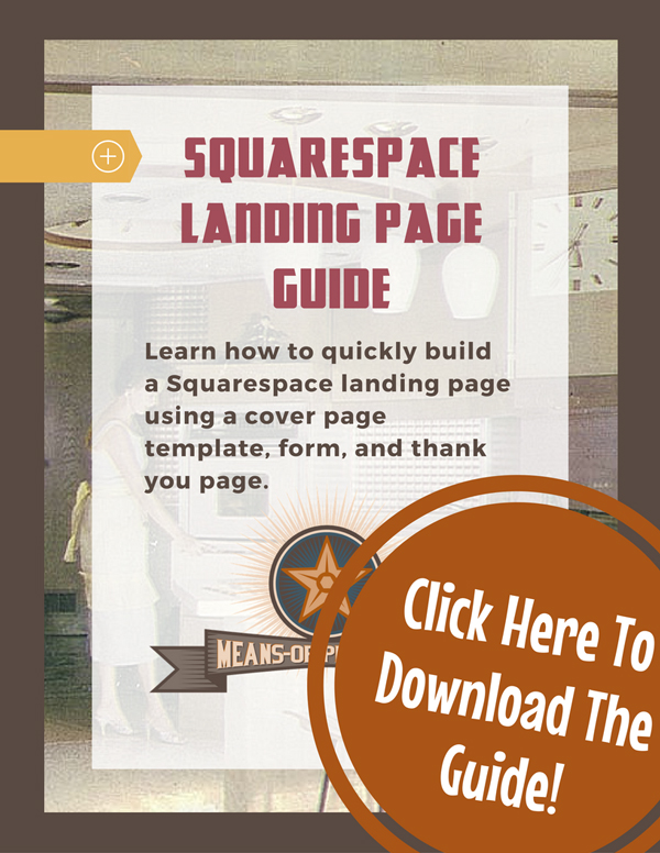 Squarespace Landing Page Guide