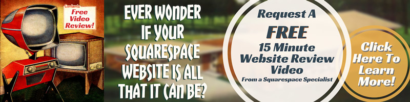 Squarespace Website Review - Free suggestions for your website on video