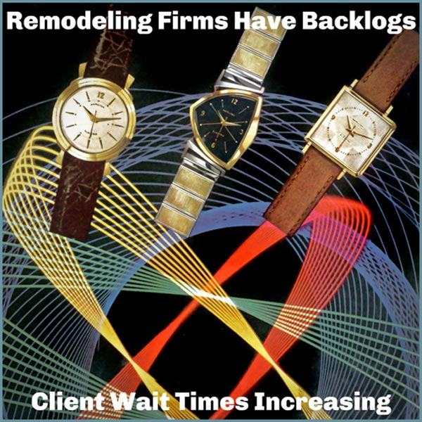 Wait Times For Remodeling Projects