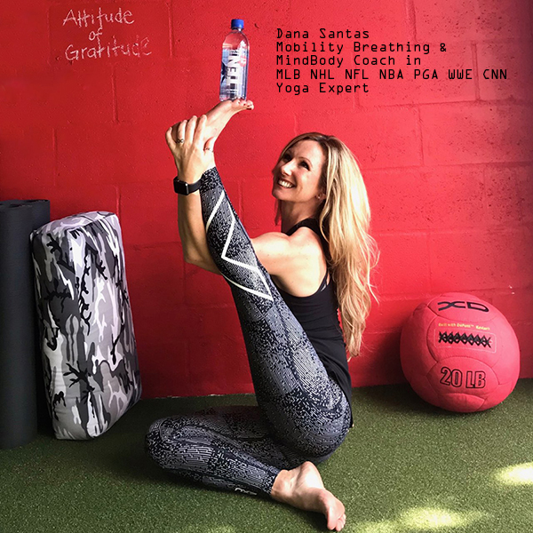 "Dana Santas, Mobility Breathing & MindBody Coach  ""TEN is the most complete high pH and electrolyte water available. Because it's my mission to help people move, breathe and feel better in their bodies, I'm thrilled to align myself with TEN water."""