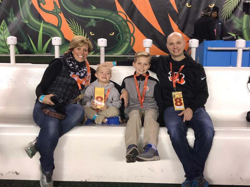Barlow Family at Bengals Game