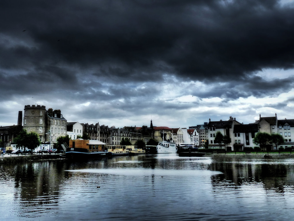 Leith on a cloudy day