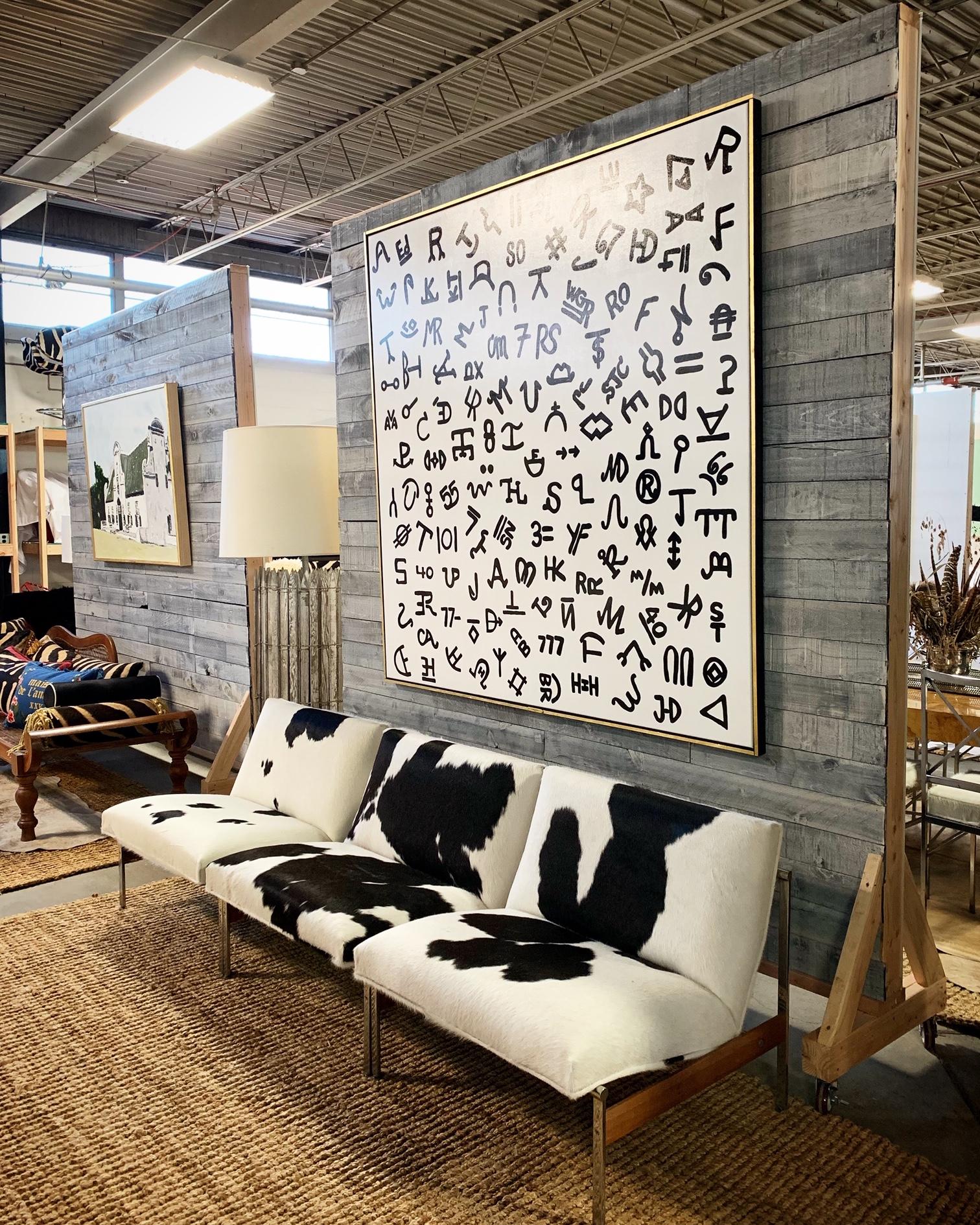 Brands in Black on White in Forsyth Studio.