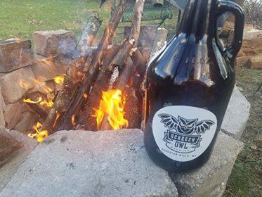 The joys of a fire pit and craft beer.