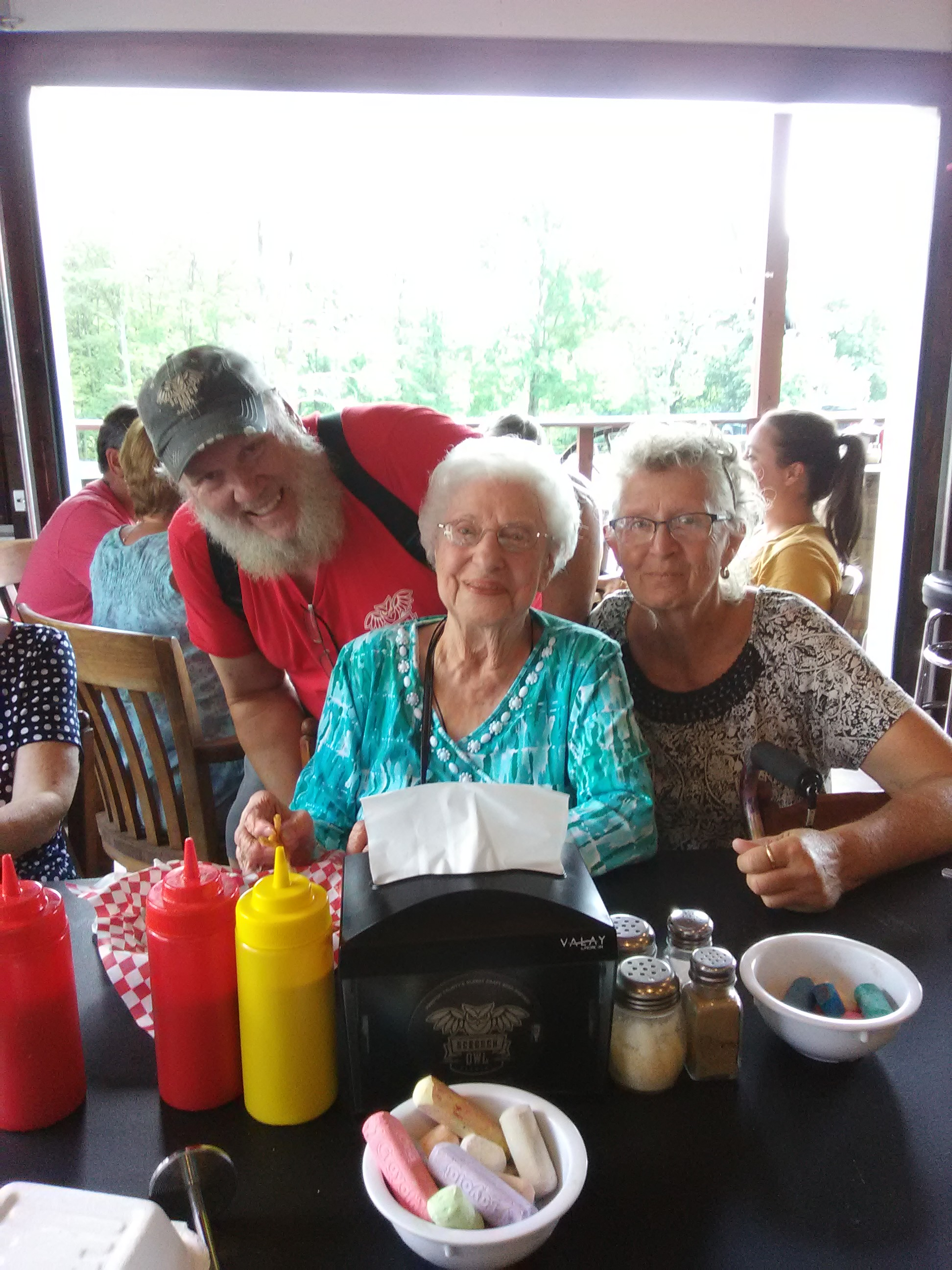 Ruby Armstrong celebrating 103 year birthday, 18 July 2019
