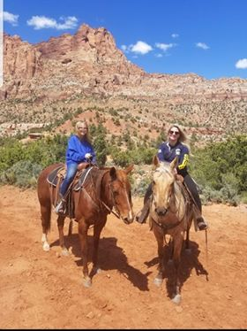 SOB horseback riding in the West