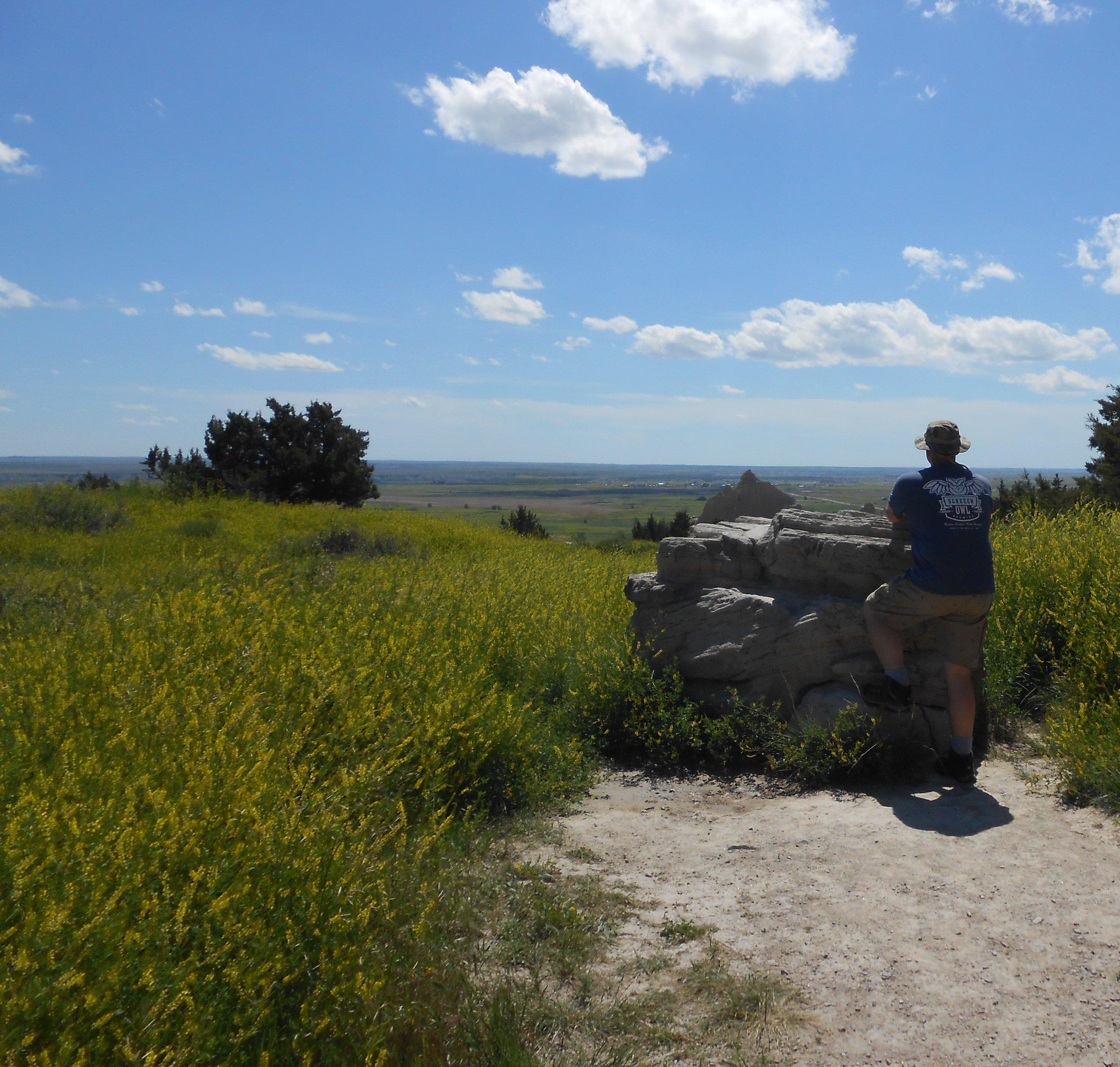 Eric Griffin in Badlands National Park.
