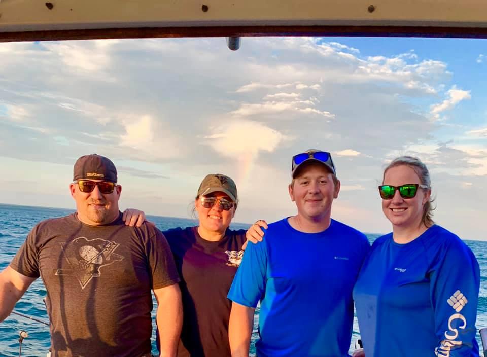 Team Lawson fishing on Lake Erie
