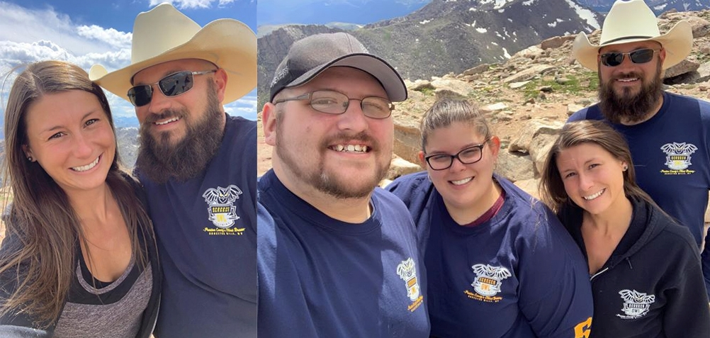 The highest flying screech owls at 14,260 ft!!!! Much love from Mt, Evans, Colorado and Katie Smalley, Adam Hoffman, Amy Moyers, and Cory Brenwalt.