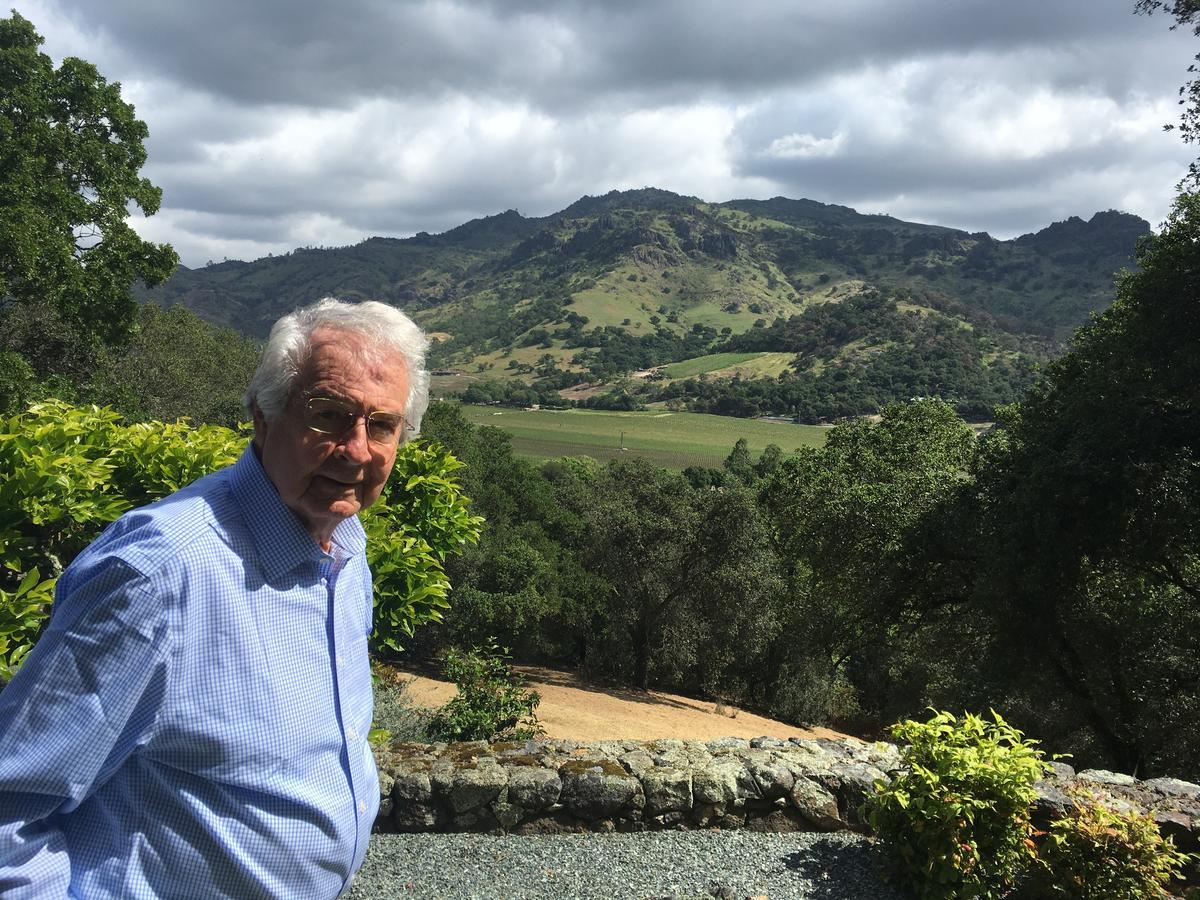Measure C proponent Warren Winiarski stands in front of his vineyards at Stag's Leap Wine Cellars.  CREDIT ANGELA JOHNSTON