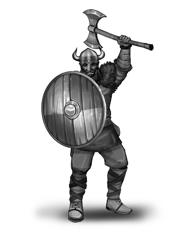 Axe Raider - Horned Helmet