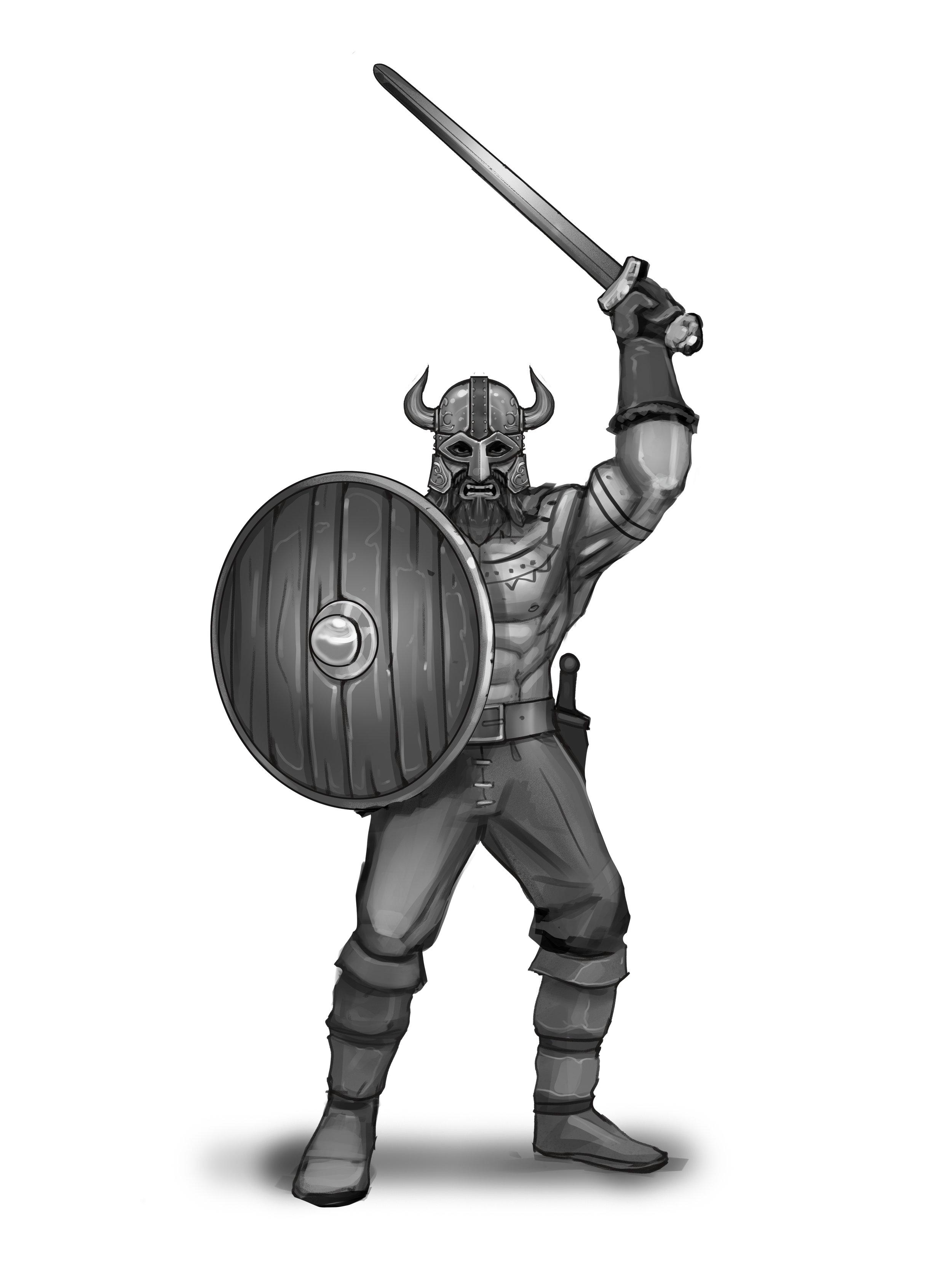 Sword Raider - Horned Helmet