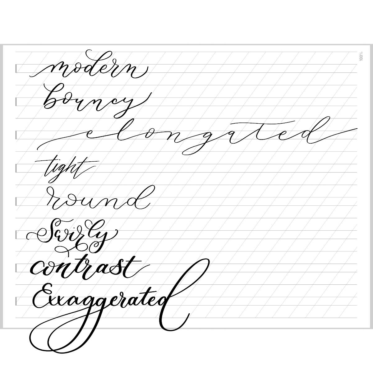 Modern Calligraphy style alternatives