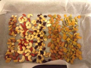 Healthy Valentine's Day treat: Chocolate, fruit and nut bark.