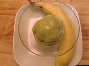 Matcha banana ice cream