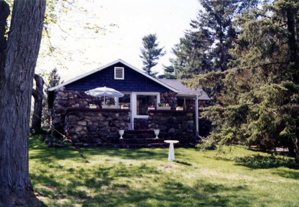 Cottage #1 from the roadside, about 1980.