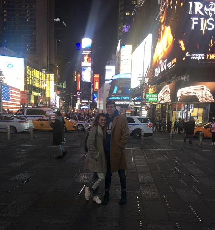 Noah and I in Times Square