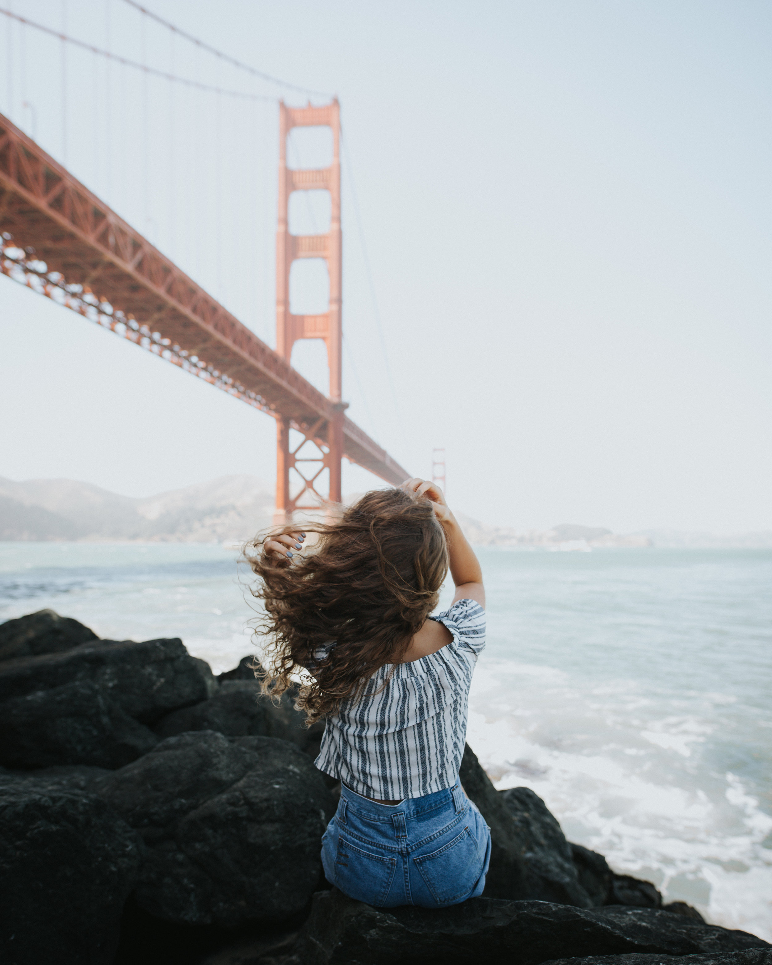 photo by  Bill Kim , taken on a rock that I wasn't supposed to be sitting on at the Golden Gate Bridge