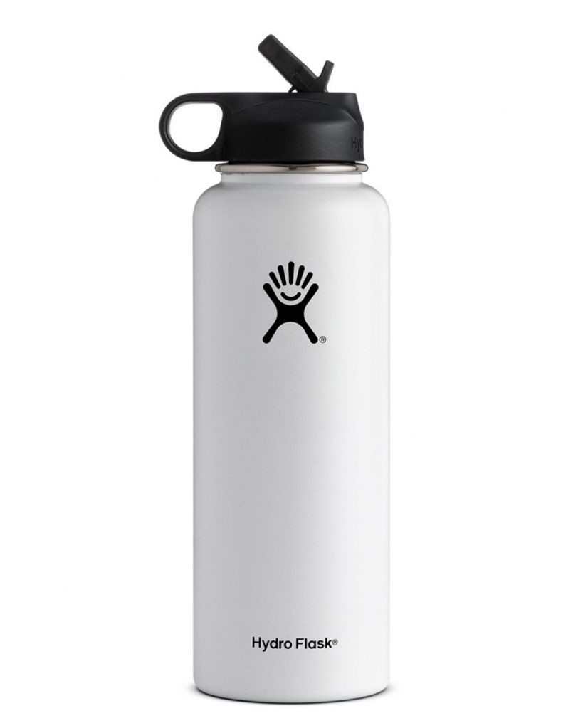 Hydro Flask   a BPA-free, stainless steel, reusable water bottle that is an absolute essential. They are great for road trips, and come in a wide array of colors. I rarely leave my house without one.