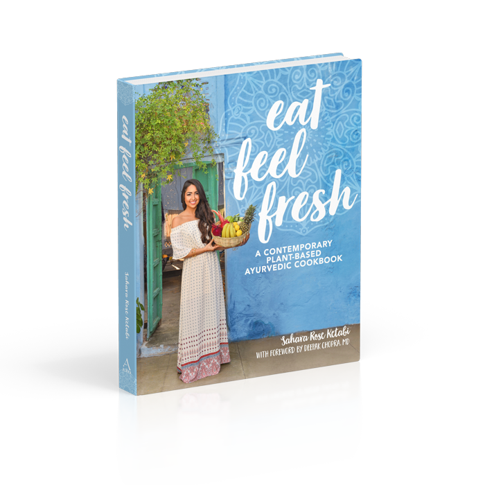 Eat Feel Fresh   a comprehensive, Ayurvedic cookbook with contemporary, plant-based recipes and beautiful images. Sahara Rose is an Ayurvedic practitioner whose work I absolutely adore!