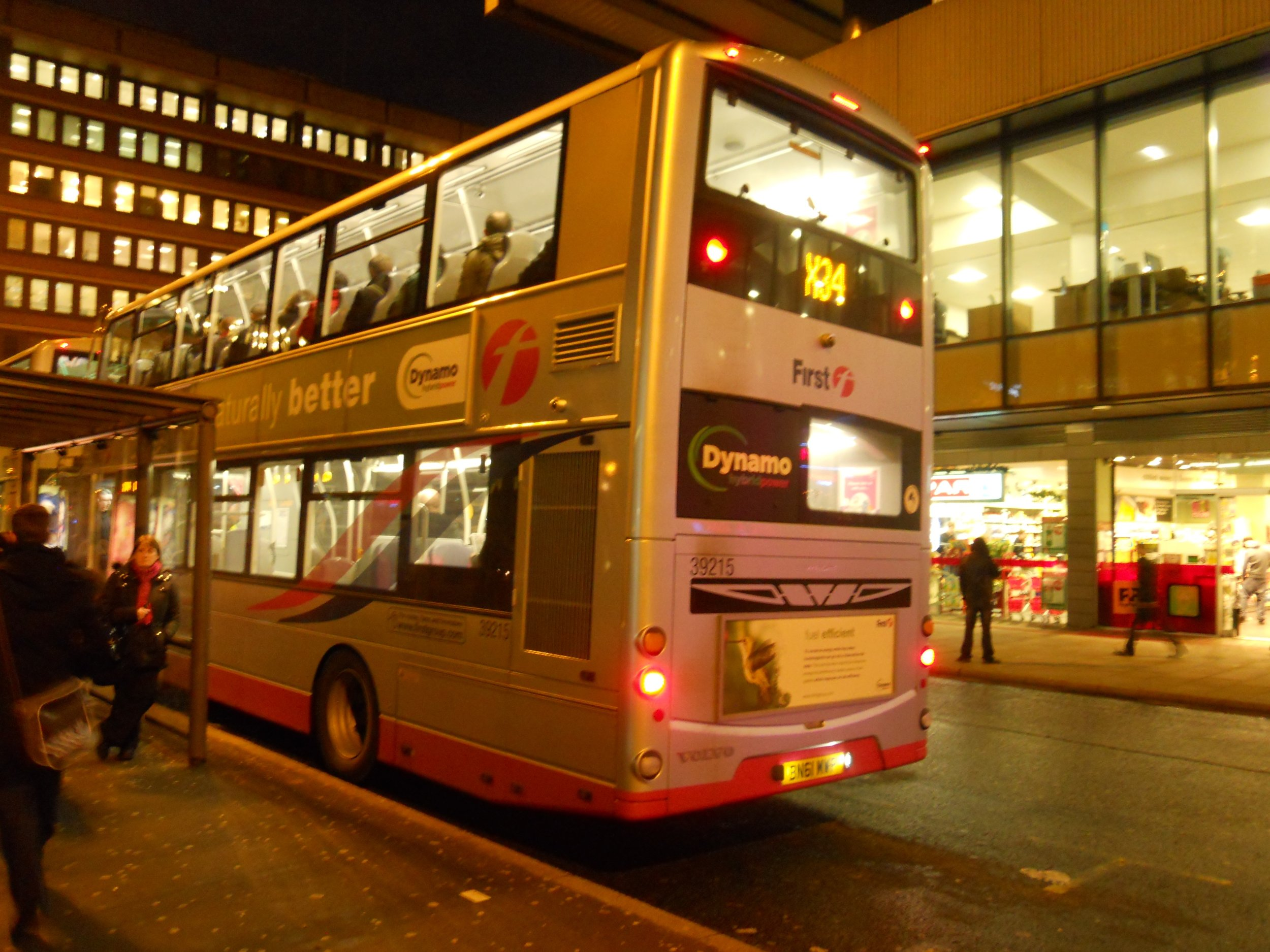 Night bus in Birmingham