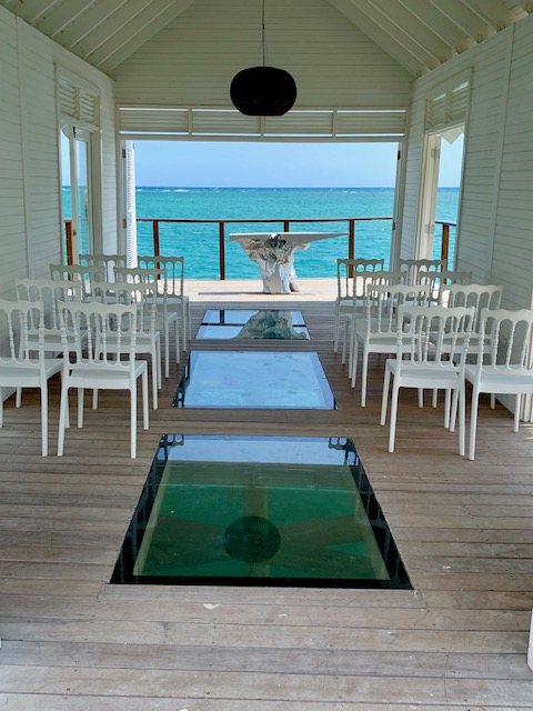 Interior of Sandals SouthCoast Chapel Over-the-Water