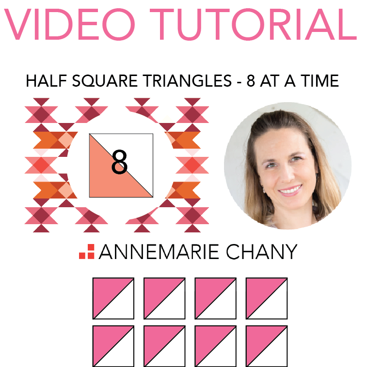 How to Make 8 Half Square Triangles at a Time Video Tutorial