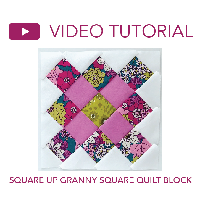 How to Square Up a Granny Square Quilt Block Video Tutorial