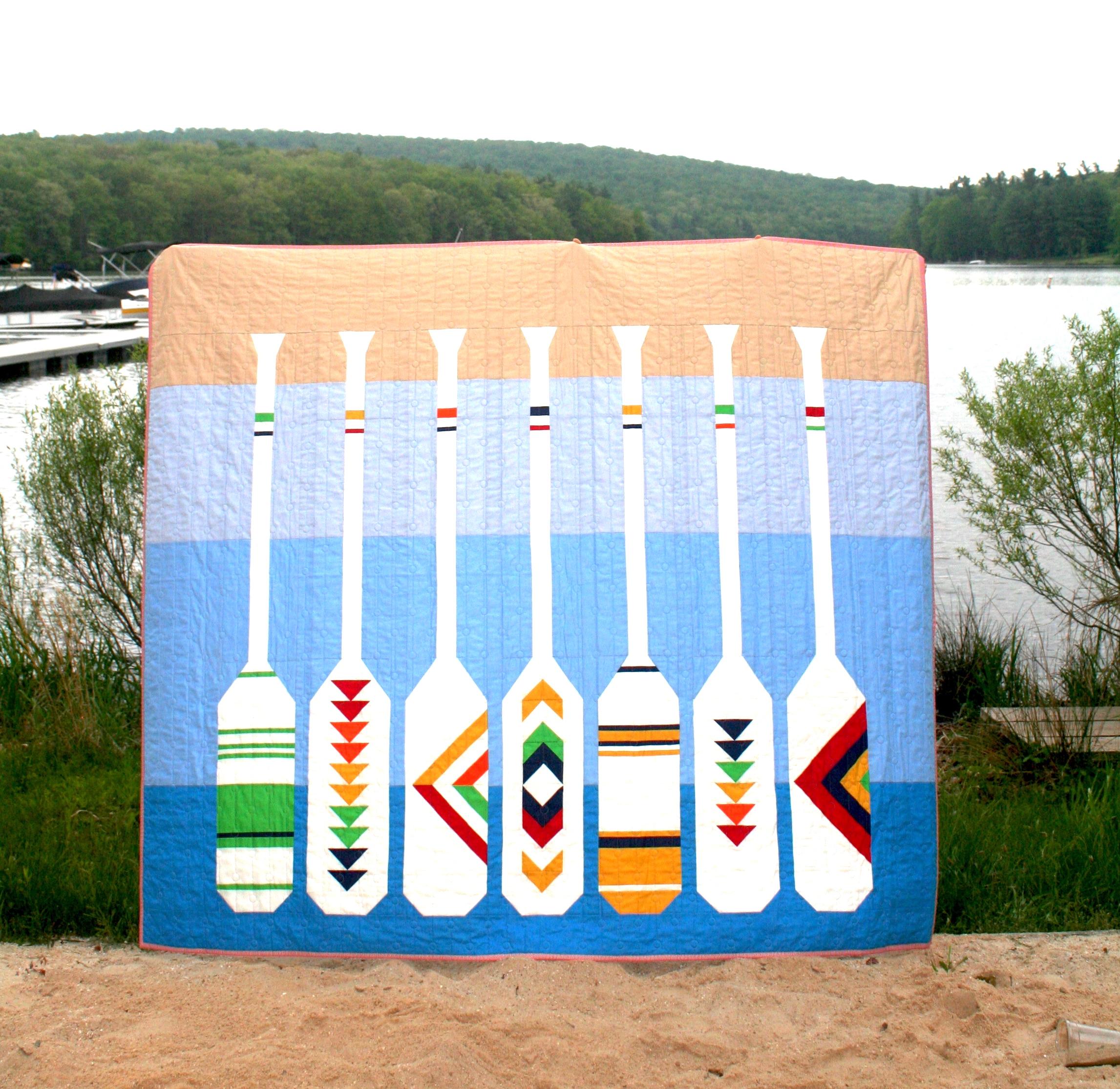 Lakeside Sampler Quilt Pattern - Oars Quilt