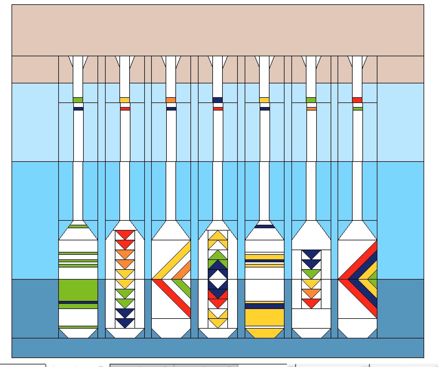 Lakeside Sampler Quilt Pattern Sketch