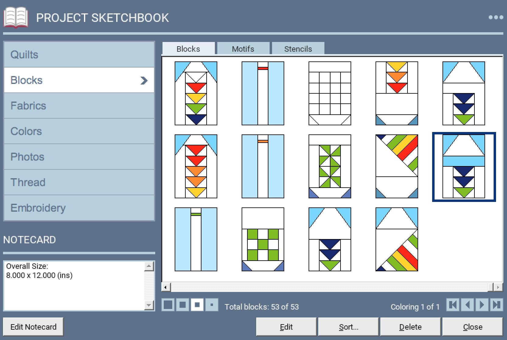 Lakeside Sampler Quilt Pattern Sketch 6.jpg