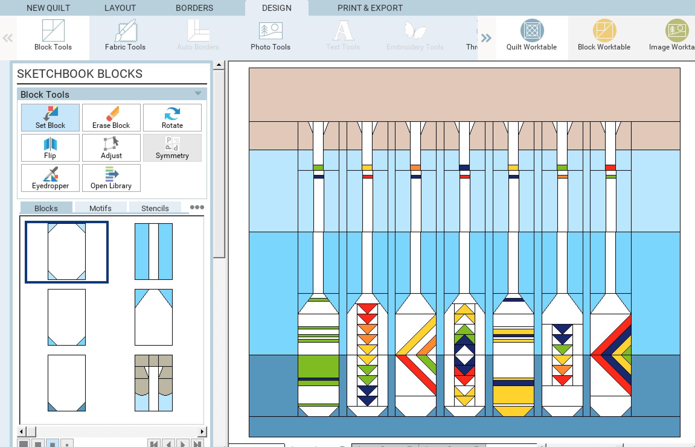 Lakeside Sampler Quilt Pattern Sketch 7.jpg