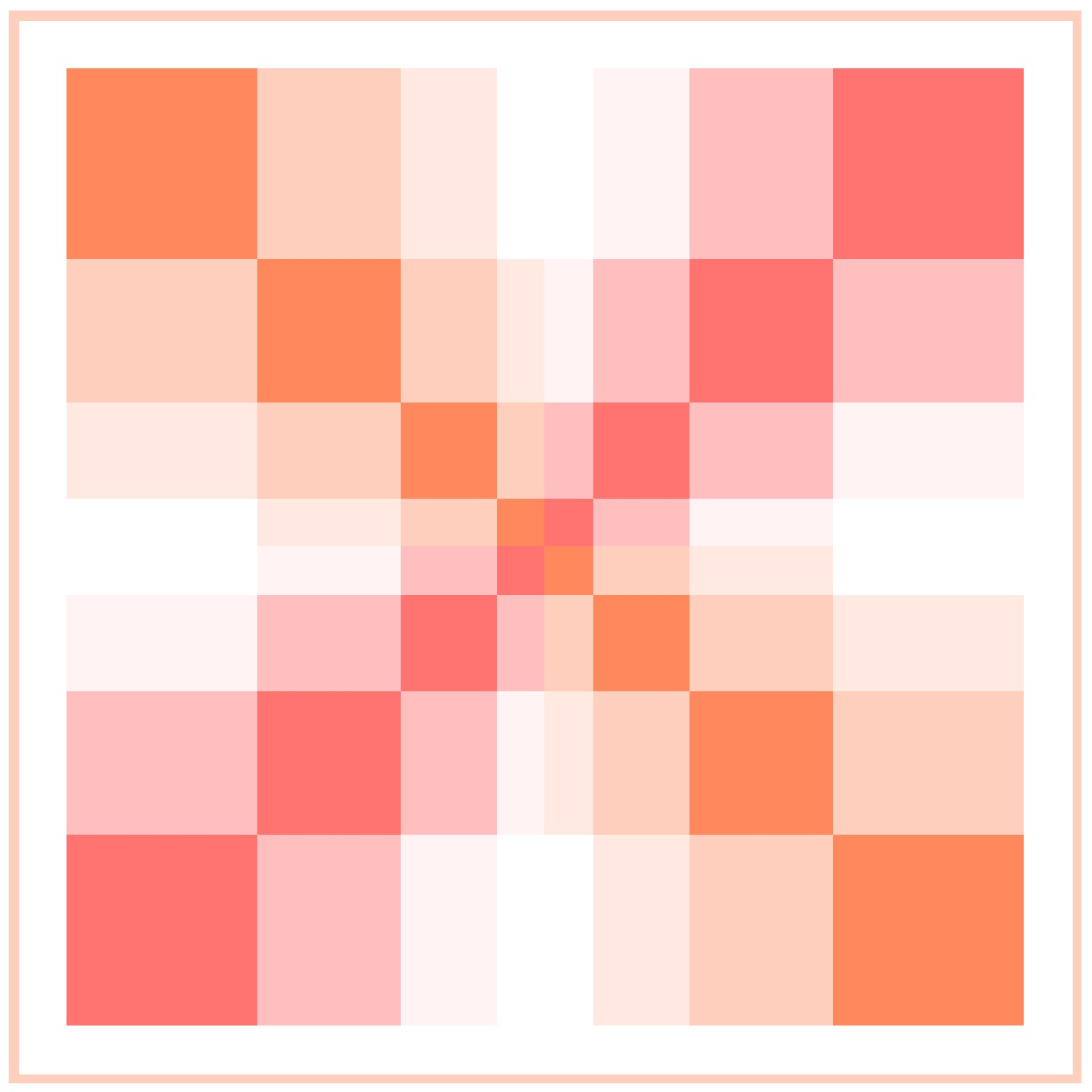 This quilt shows me simply playing with color gradation in one of the Irregular Grids from the Layout Library. I kind of like the simplicity of using the colors with squares and rectangles.
