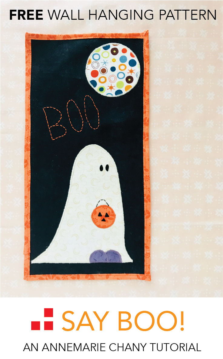 Say Boo Wall Hanging Free Quilt Pattern tutorial