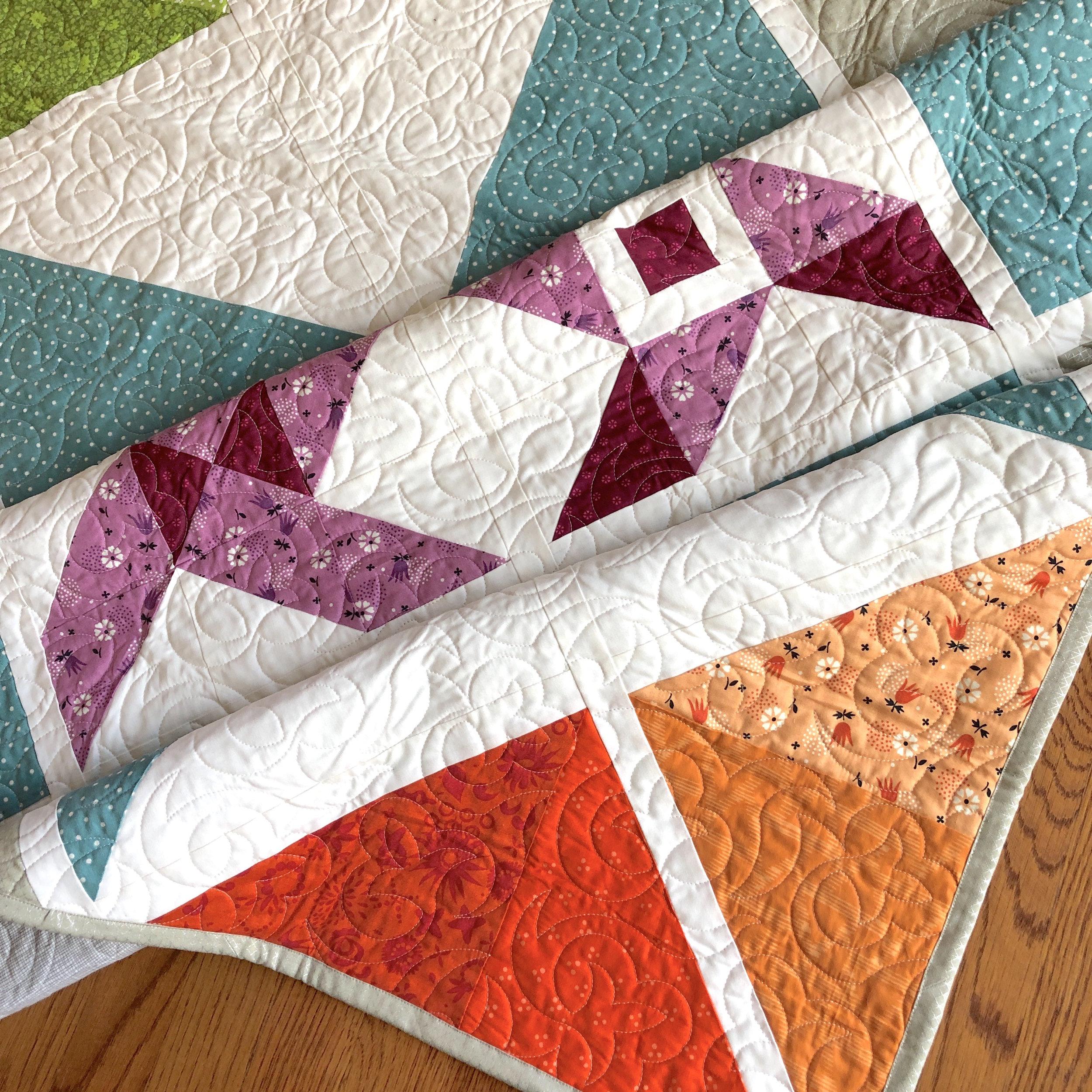 Folk Star Quilt Pattern Orange Corner.JPG