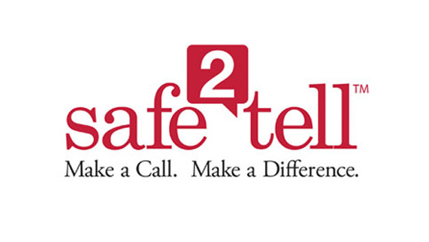 Safe 2 Tell Colorado                                    (877)542-7233                                 www.safe2tell.org