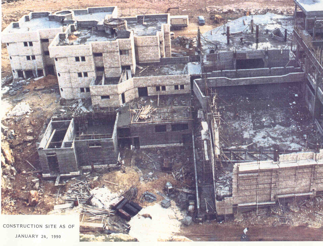 Construction site, January 24, 1990.