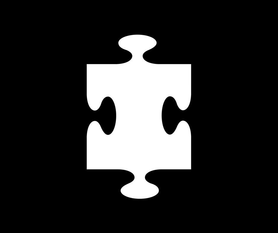 White jigsaw puzzle piece