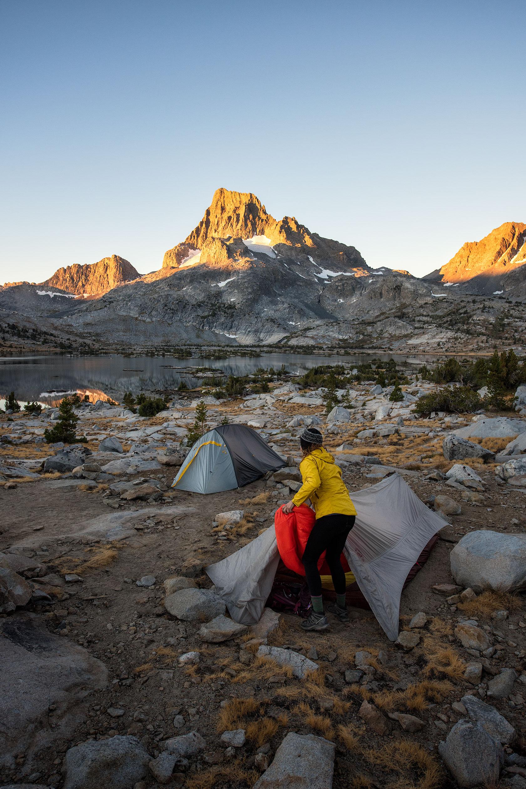 austin-trigg-big-agnes-tent-john-muir-trail-camping-sleeping-bag-thousand-Island-Lake-sunrise.jpg