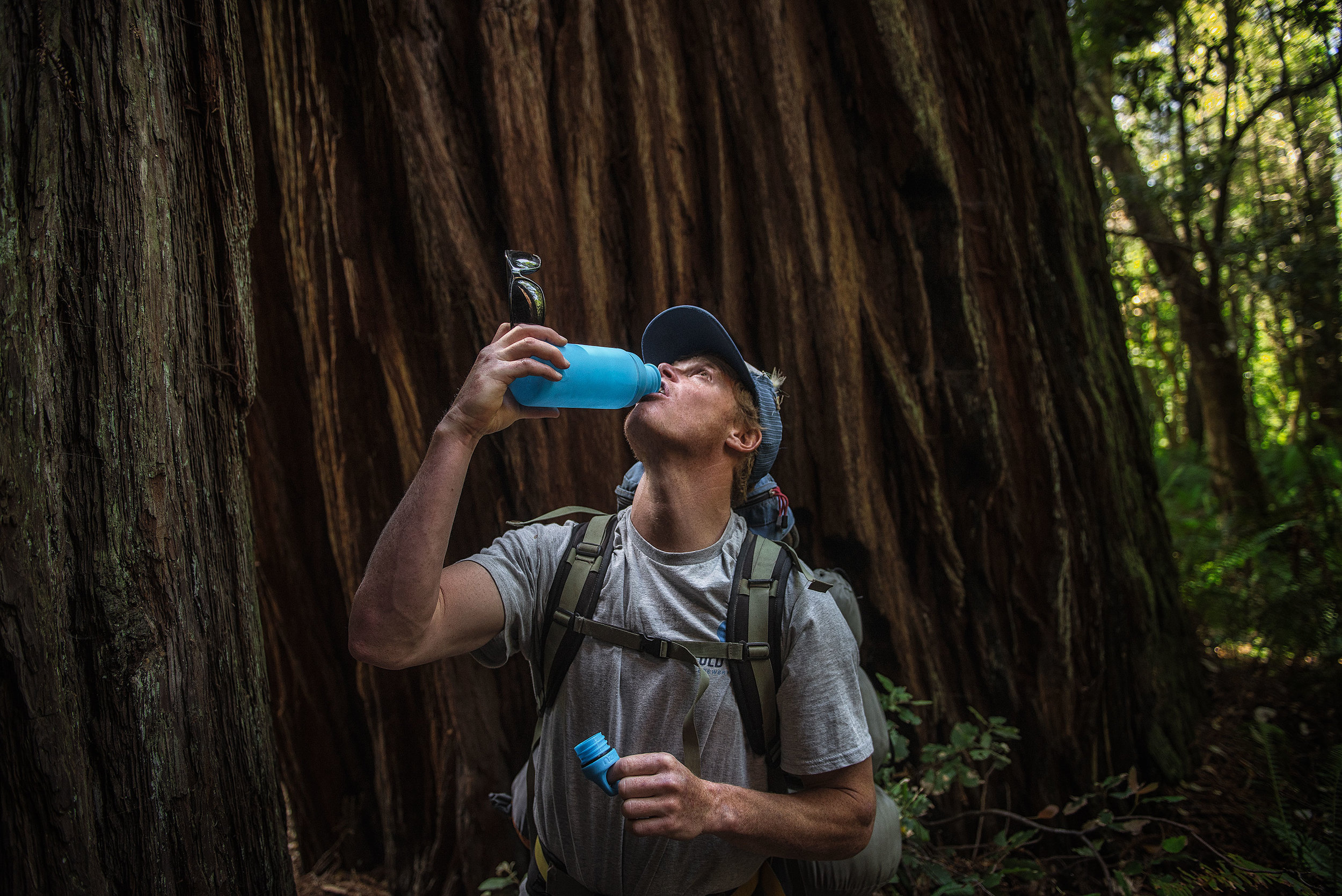 austin-trigg-redwood-water-bottle-Mizu-drink-tall-tree-grove-forest-camping-backpacking-hike-lifestyle-california-adventure.jpg