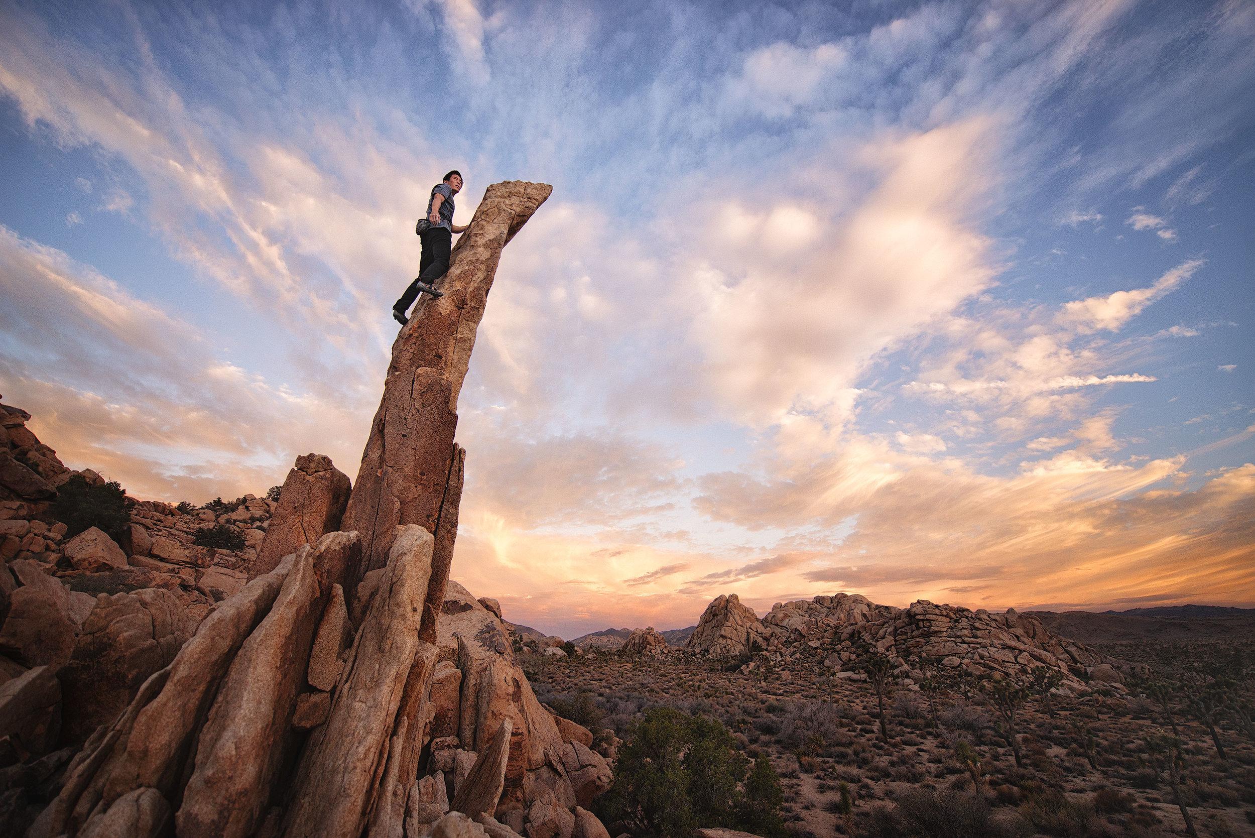 austin-trigg-joshua-tree-national-park-rock-climbing-Aiguille-desert-sunset.jpg