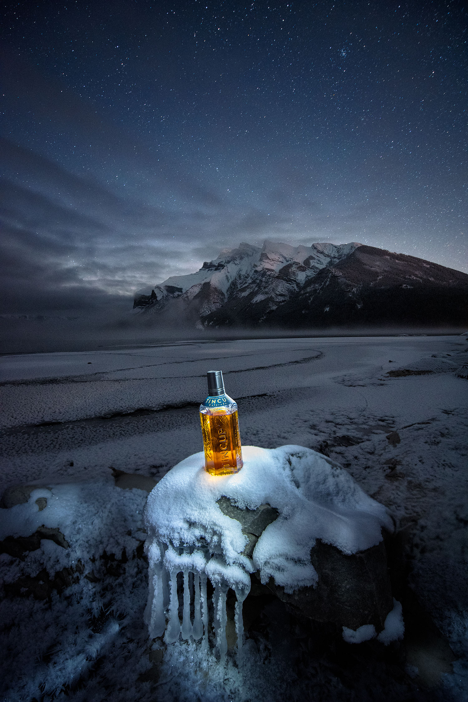 austin-trigg-whiskey-banff-alberta-product-TINCUP-Lake-Minnewanka-winter-night-snow.jpg