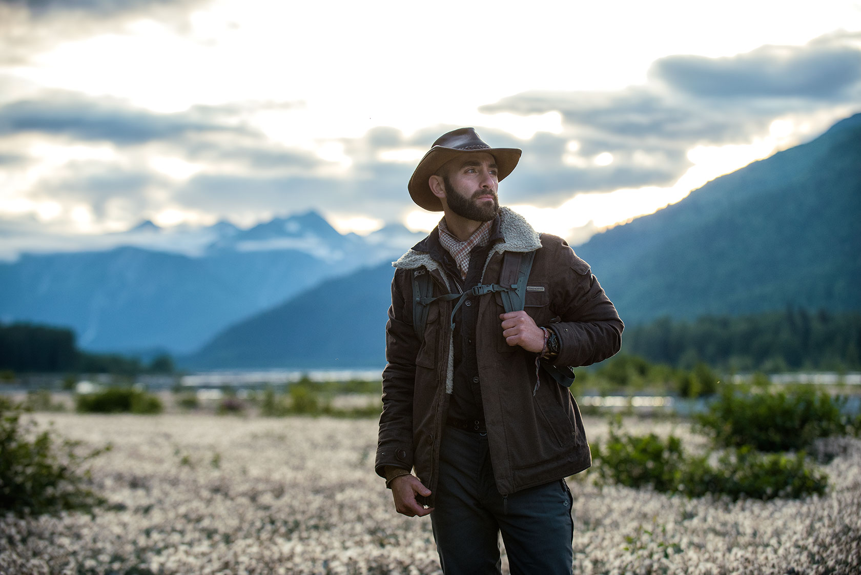 austin-trigg-brave-wilderness-alaska-BW-Coyote-Stands-in-Valley.jpg