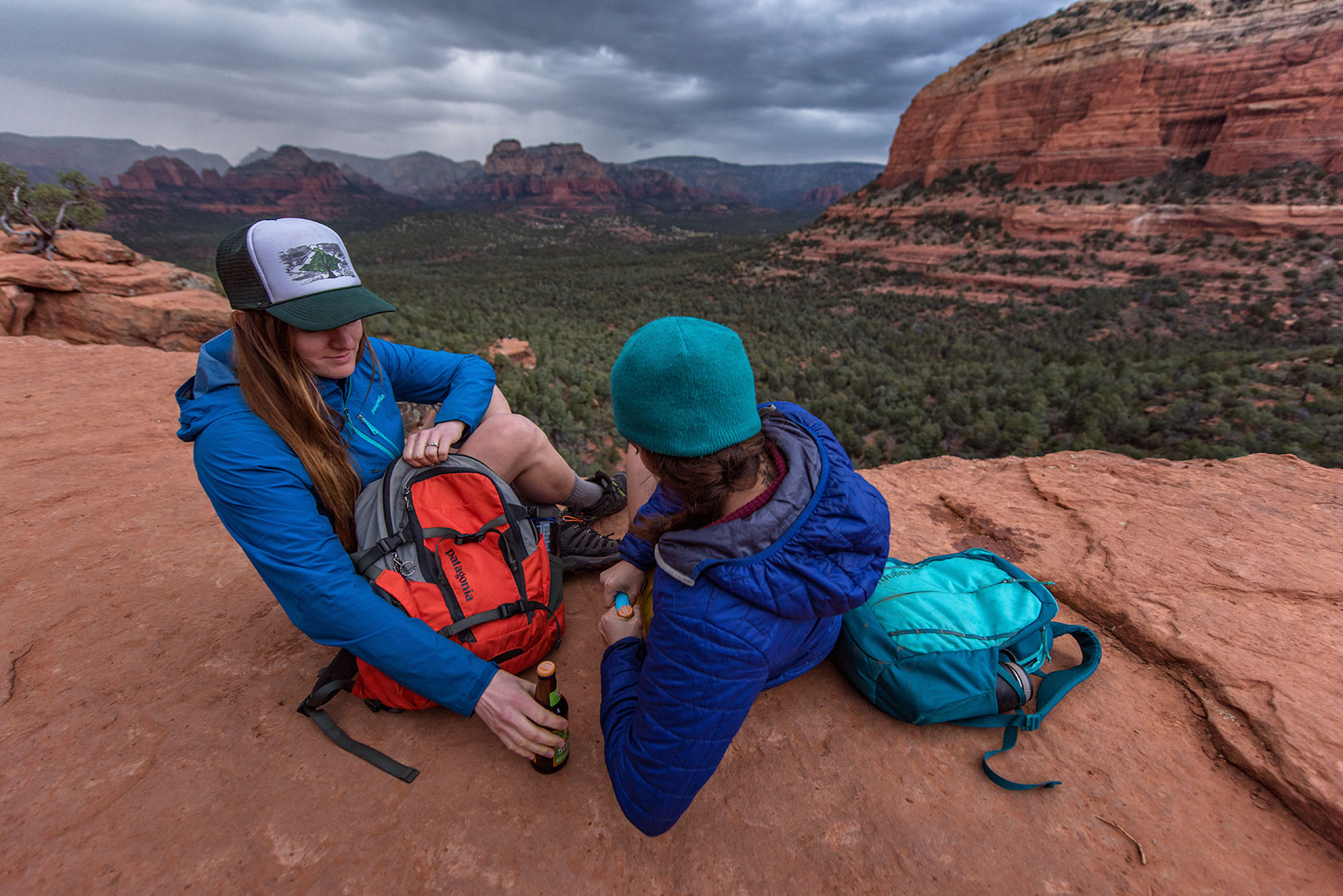 austin-trigg-patagonia-day-pack-sedona-arizona-lifestle-product-backpack-adventure-devils-bridge-rain-storm-beer.jpg