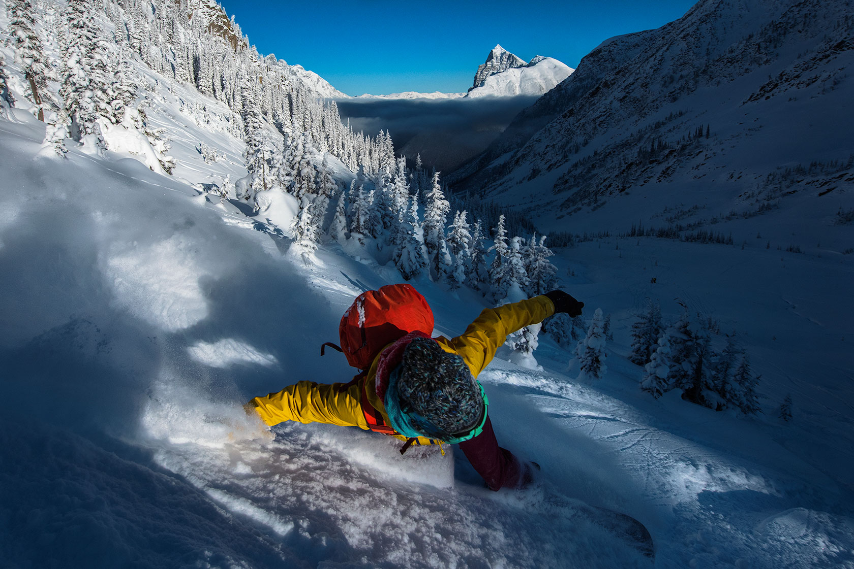 austin-trigg-patagonia-banff-alberta-winter-Audrey-Rogers-pass-splitboard-ski-touring-sunset-ride-backcountry-adventure.jpg